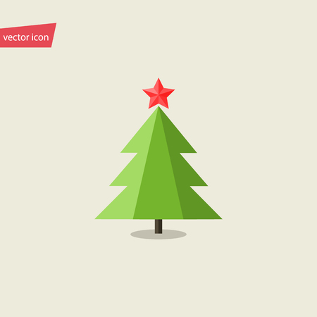 cypress: Vector illustration of Christmas tree