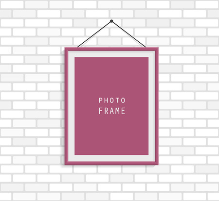 bordo: Bordo photo frame on white brick wall