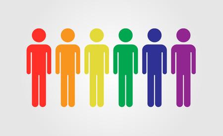 LGBT gens vecteur icône, LGBT arc-drapeau