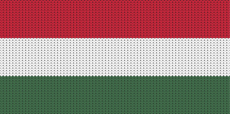 knitted: Knitted flag of Hungary Illustration
