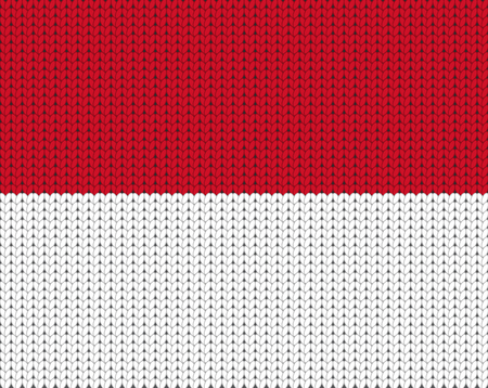 knitted: Knitted flag of Monaco