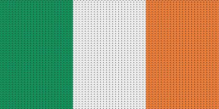 ireland flag: Knitted flag of Ireland