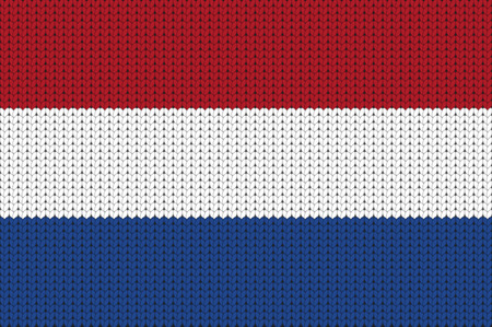 knitted: Knitted flag of Netherlands