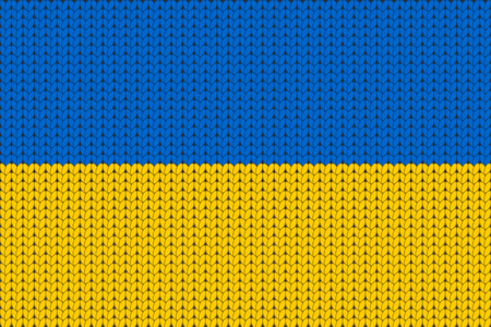 knitted: Knitted flag of Ukraine Illustration