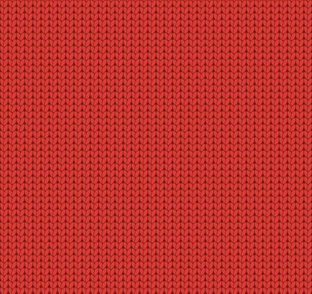 Naadloos gebreide rood patroon, wollen stof, wollen doek