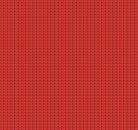 woolen: Seamless knitted red pattern, woolen fabric, woolen cloth Illustration
