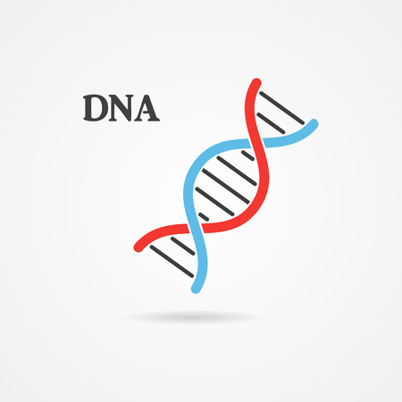 Flat dna spiral logo, logo design, abstract logo, DNA symbol