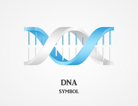 DNA-Symbol, DNA-Logo, Wissenschaftslogo, Spirallogo Logo