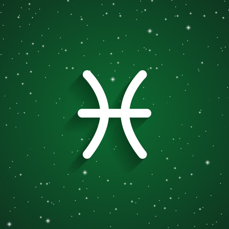 Pisces Zodiac Sign Icon Isolated Astrology And Horoscope Graphic