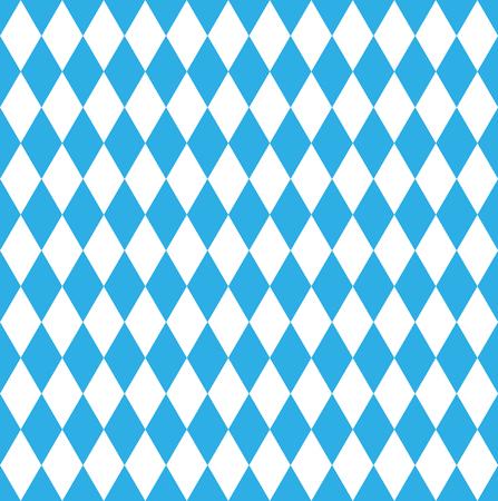 Seamless Bavarian October fest checked flag Illustration