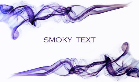 Purple smoky swirls on a white background photo