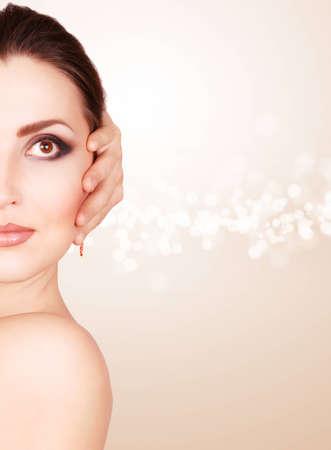 Half face beautiful woman with fashion makeup Stock Photo - 12852814
