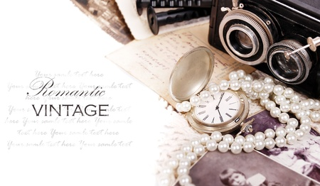 Still life with romantic vintage things photo