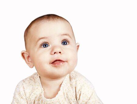 Open smiling sweet baby portrait Stock Photo - 17260671