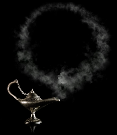 alladdin: Magic Alladdin Lamp with smoke frame