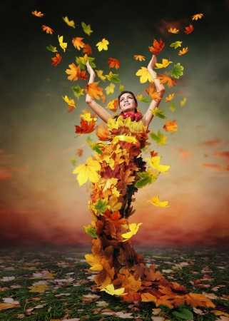 Abstract autumn image. Triumph by Lady Autumn  Stock Photo