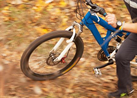 close up image: Cyclist racer close up image