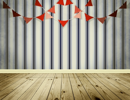 festoon: Wallpaper background with red pennants festoon