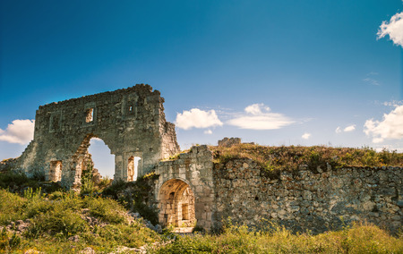 Ruins of citadel. Mangup Kale, Crimea, Ukraine photo