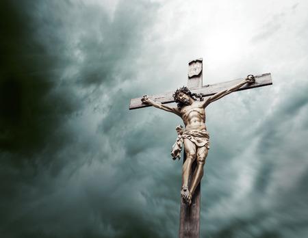 그리스도의 십자가에 못 박음 스톡 콘텐츠