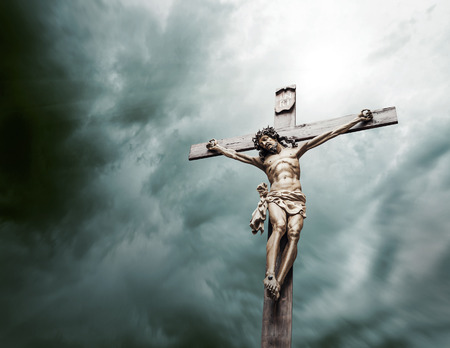 statues: crucifixion of Christ Stock Photo