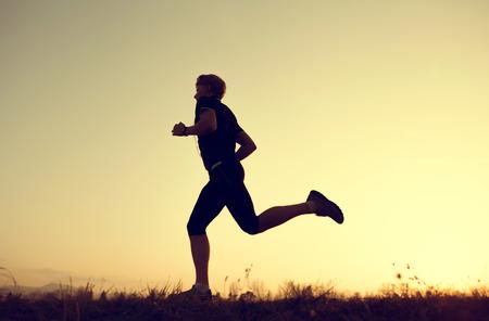 Adam siluet Koşu