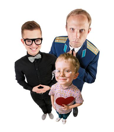 egghead: Three funny guys portrait