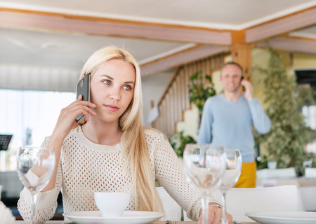 Meeting in restaurant photo