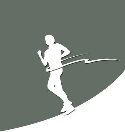 cut the competition: Paper runner silhouette with finish stripe