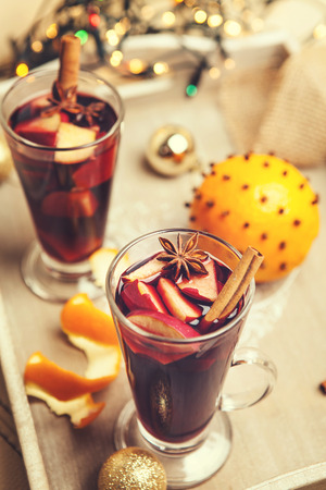 vin chaud: Hot wine aroma drink