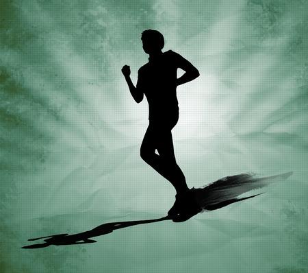 breathing exercise: Runner silhouette
