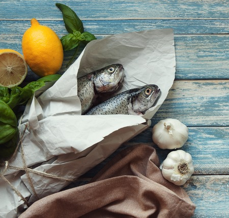 fresh fish: Fresh fish for cooking Stock Photo