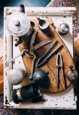 food photography: Vintage kitchen props
