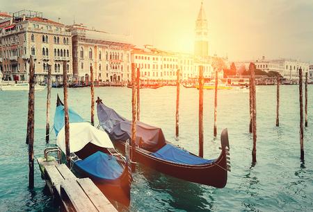 venecian: Venecian gondolas on Grande Chanel