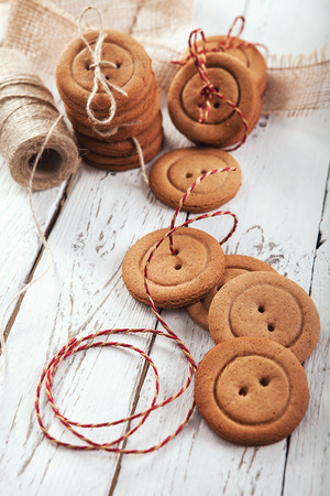 Gingerbread buttons traditionak christmas cookies