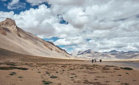 Tso Kar-Keylong Road in Indian Himalaya