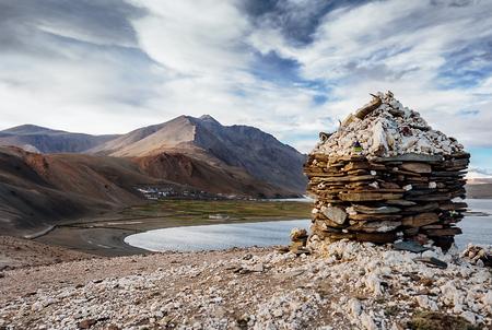 Vilage Korzok on the Tso Moriri Lake in Ladakh, North India