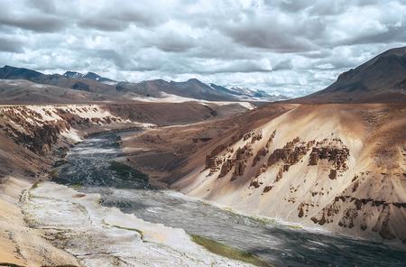 Mountain river. Canyon in Indian Himalaya Stock Photo - 78879792