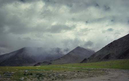 Foggy morning in Indian Himalaya