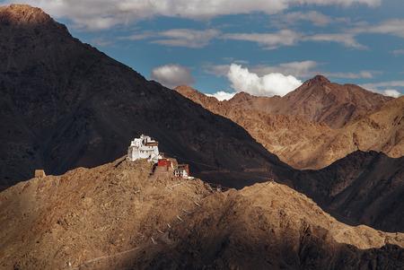 Namgyal Tsemo Monastery in Leh, North india, Ladakh region Stock Photo
