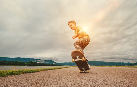 Young skateboarder photo