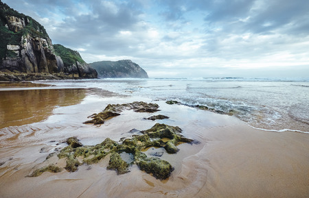 Seaside of Biskay Bay, Asturia Region, North Spain Stock Photo