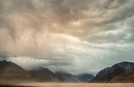 Sand storm in Nubra Valley