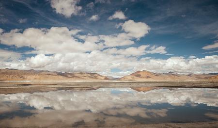Tso Kar Lake landscape Stock Photo
