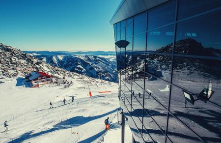 Modern ski areal in Tatra Mountain