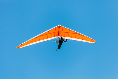 Soaring hang gliding in the sky