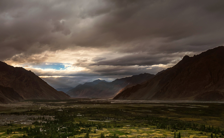 Sunset in Nubra Valley, North India
