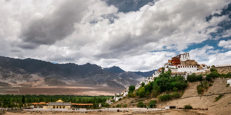 Thiksey monastery in Leh, Ladakh, North India Stock Photo