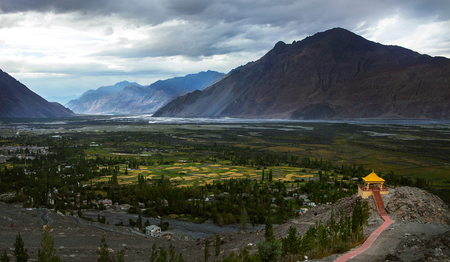 Nubra Valley in North India, Jammu and Kashmir region Stock Photo - 101218029