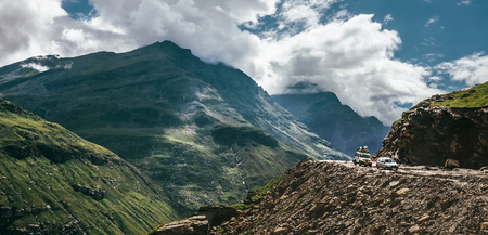 Mountain pass road in Indian Himalaya after rain season Stock Photo - 107564402